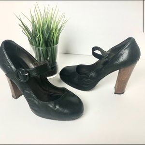 Joie Black Leather Pointed Toe Hell Size 8